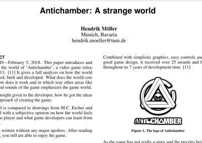 Game Analysis: Antichamber